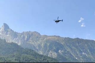 उत्तरकाशी : चीन सीमा पर  सैन्य हलचल तेज, वायुसेना के हेलीकॉप्टर ने किया निरीक्षण