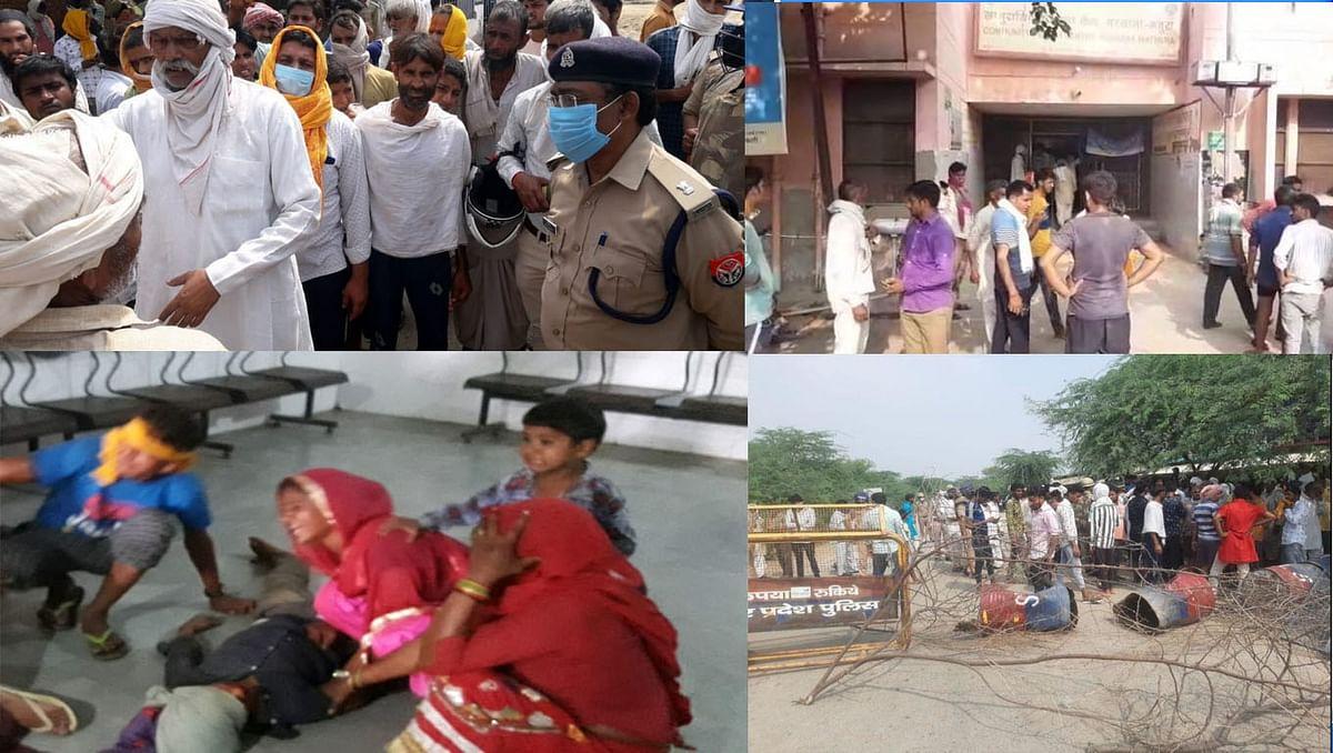 मथुरा : बस ने मजदूर परिवार के चार सदस्यों को रौंदा, किशोर की मौत, तीन गम्भीर