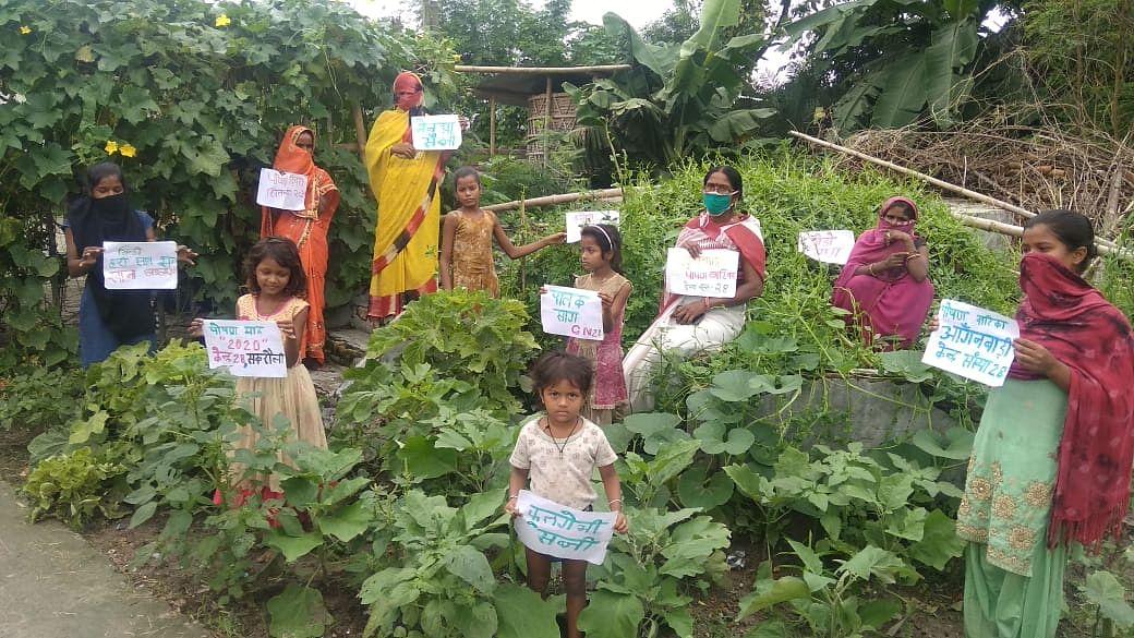 पोषण जागरूकता के लिये पोषण वाटिका  सुदृढ़ीकरण पर ग्रामवार्ता