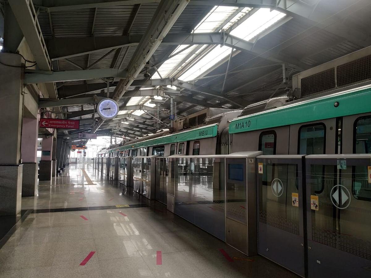 पांच महीने बाद मेट्रो ने पकड़ी अपनी रफ़्तार