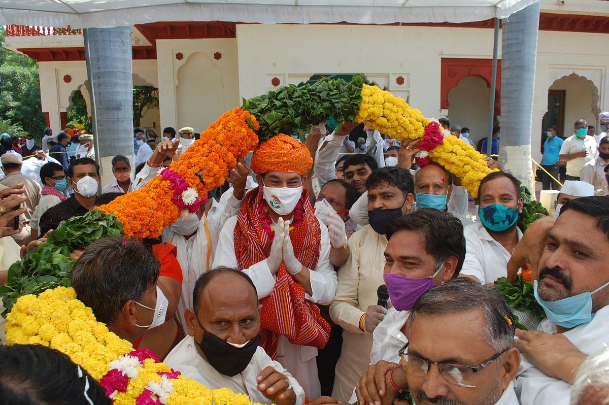 पूर्व केंद्रीय मंत्री जितेंद्र सिंह के कांग्रेस के राष्ट्रीय महासचिव बनने पर अलवर में हुआ स्वागत