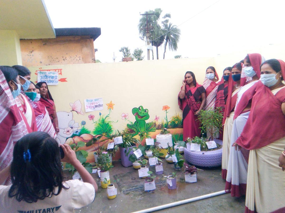पोषण जागरूकता के लिए पोषण वाटिका सुदृढ़ीकरण को लेकर ग्रामवार्ता