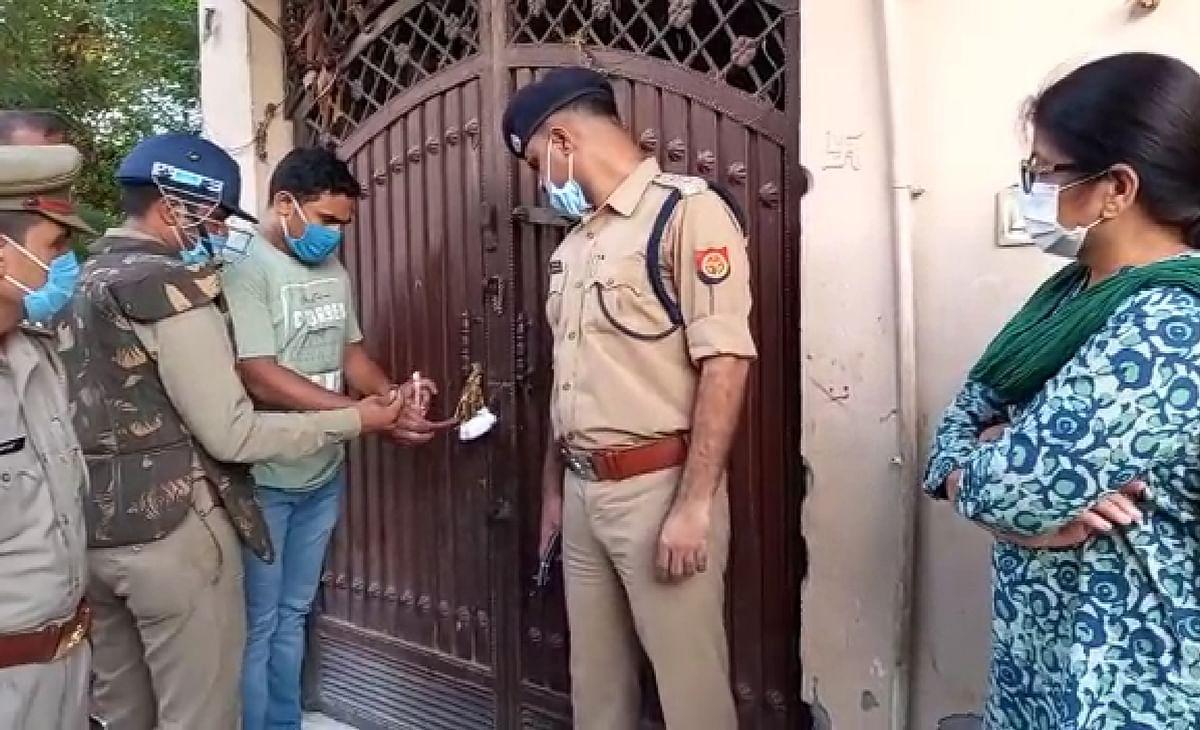 पुलिस ने तोड़ा शराब माफिया रमेश प्रधान का 'तिलिस्म', दो मकानों पर लगाई सील