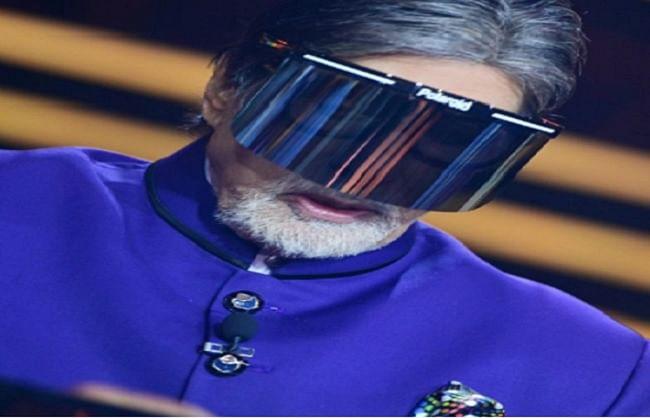 अमिताभ बच्चन ने शेयर की केबीसी 12 के सेट से फेस शील्ड लगाए तस्वीर