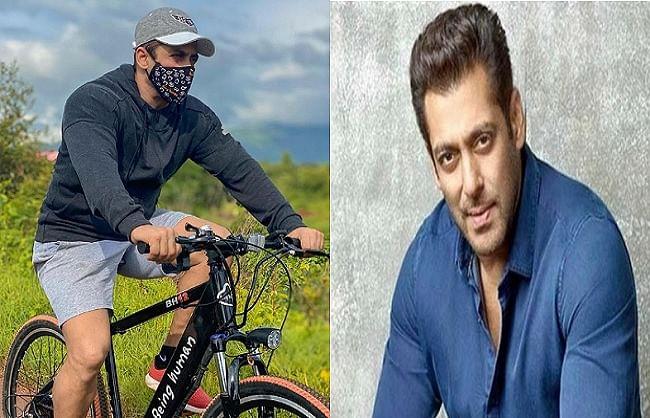 सलमान खान ने मास्क लगाकर चलाई साइकिल, फैंस को दी ये सलाह