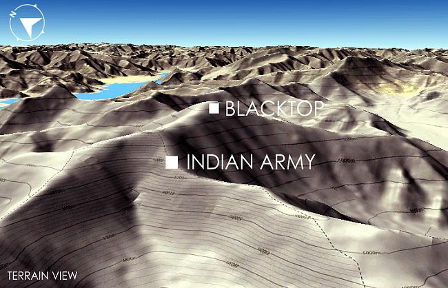 भारत के कब्जे से 1.5 किमी. दूर ब्लैक टॉप और हेलमेट टॉप