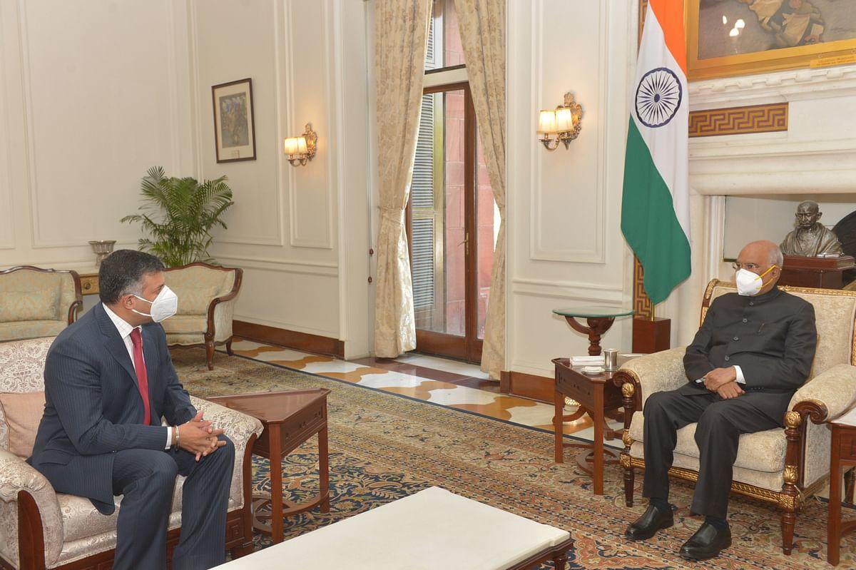 बांग्लादेश में भारत के उच्चायुक्त विक्रम दुरईस्वामी ने राष्ट्रपति कोविंद से मुलाकात की