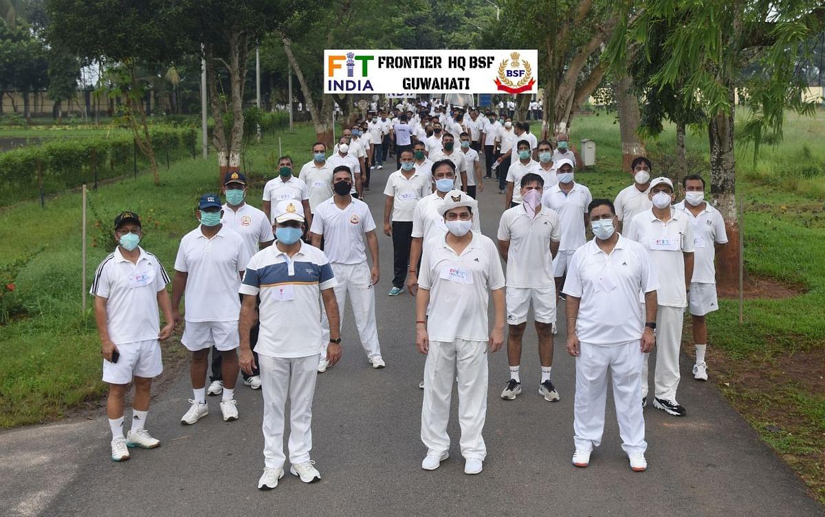 सीसुब गुवाहाटी फ्रंटियर ने फिट इंडिया फ्रीडम रन का किया आयोजन