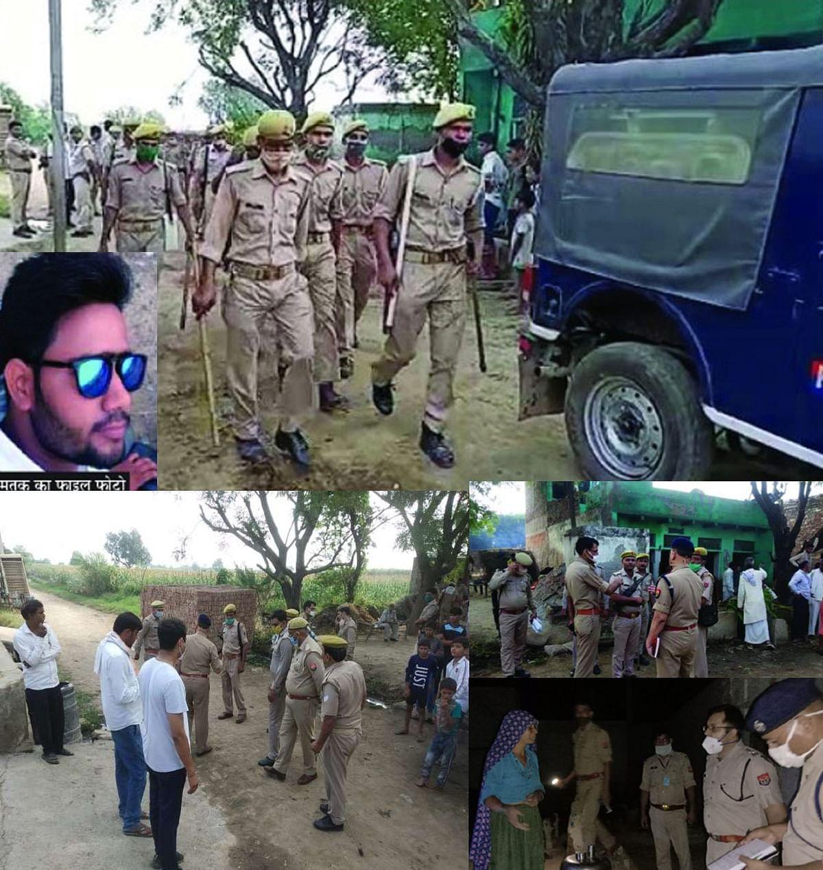 वृंदावन : भरतिया गांव में प्रेमी की हत्या के बाद दोनों गांवों में पीएसी तैनात, चार हिरासत में