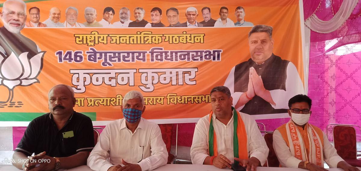देश विरोधी ताकतों को प्रश्रय और जिन्ना समर्थकों को  टिकट देती है कांग्रेस : कुंदन सिंह