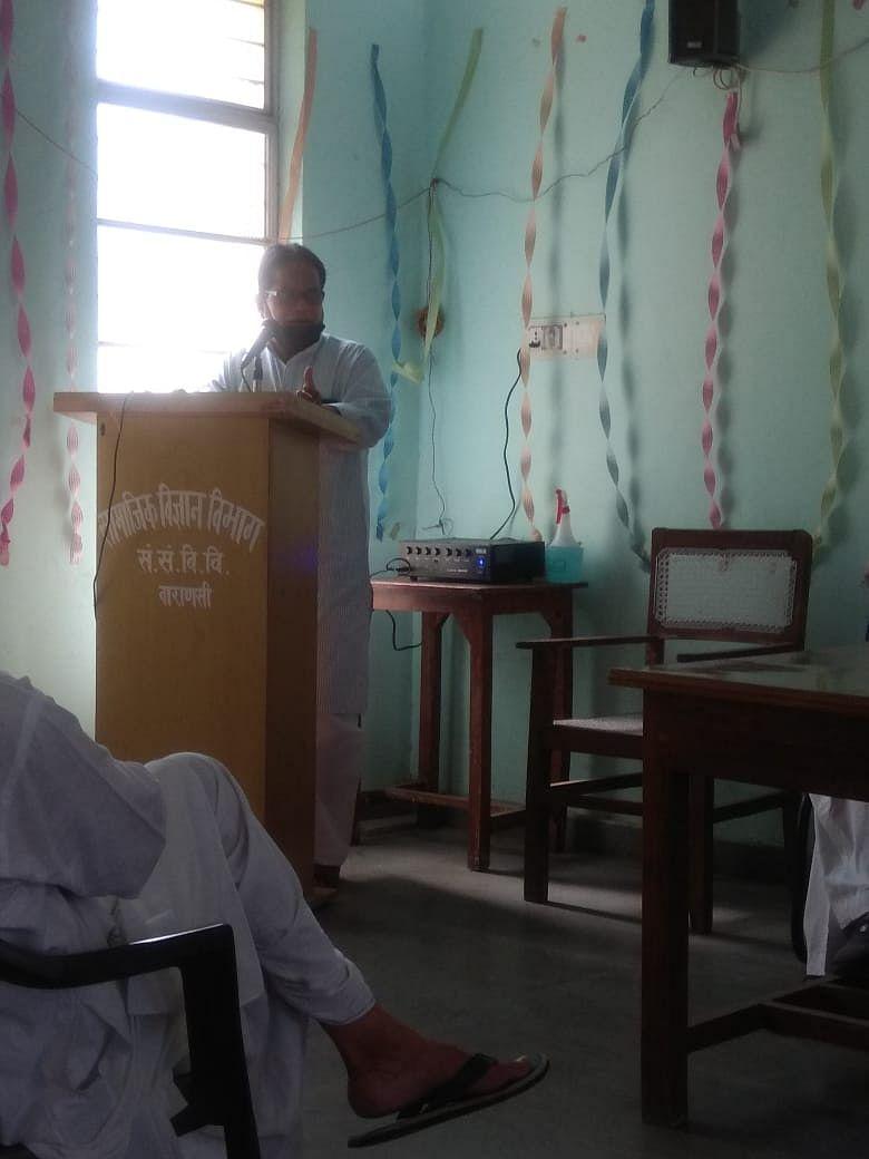 सम्पूर्णानन्द संस्कृत विश्वविद्यालय में प्रो. सोमनाथ को याद कर दी गई श्रद्धाजंलि