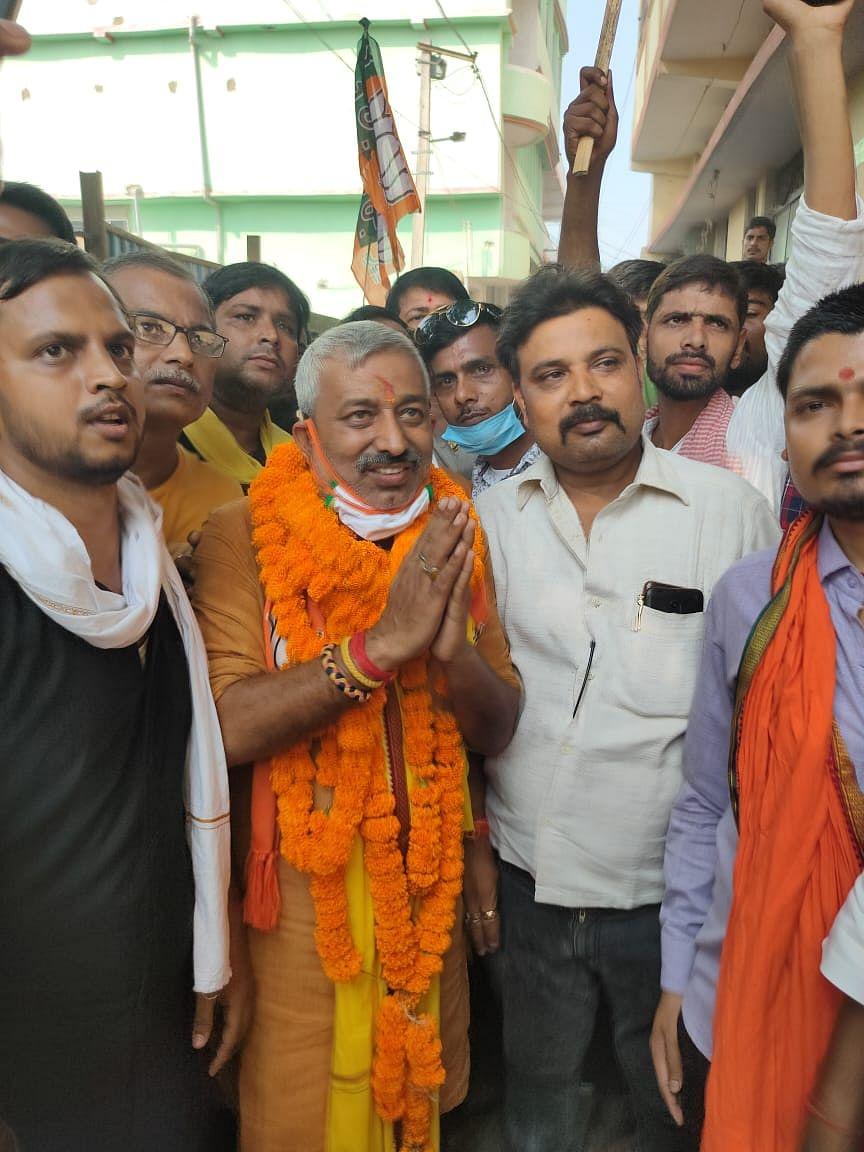 एनडीए प्रत्याशी कौशल कुमार विद्यार्थी के नामांकन के बाद पीरो में दिखा गजब का उत्साह