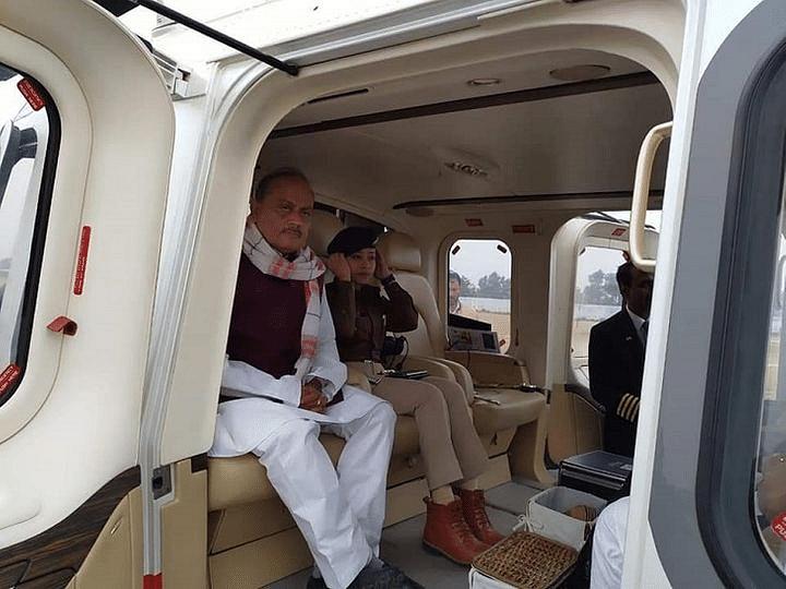 जदयू प्रत्याशी के साथ हेलीकॉप्टर में बैठी लिपि सिंह का फोटो वायरल