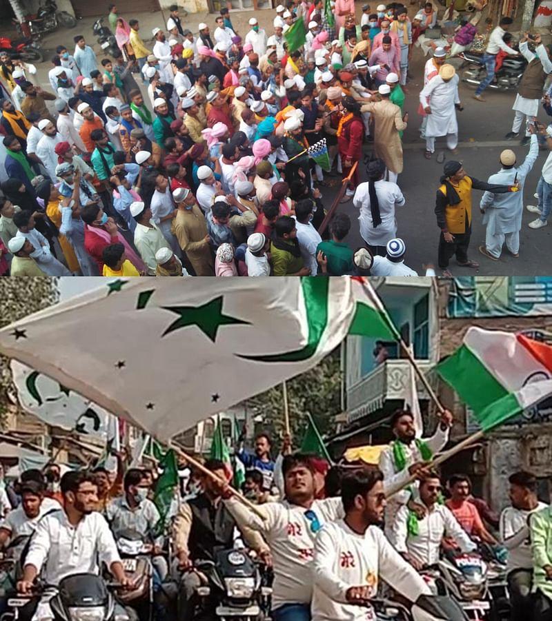 कोरोना पर भारी पड़ा मुहम्मदी जुलूस, इस्लामिक झंडे फहराकर हुई तकरीर