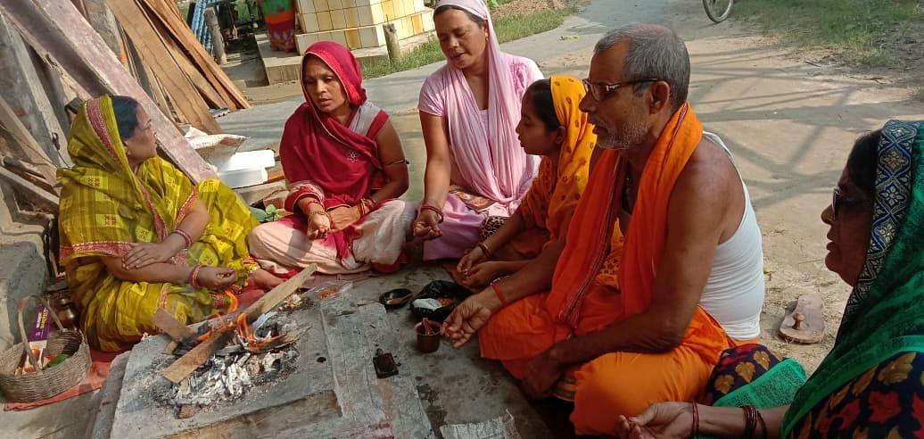 सहरसा में वैदिक रीति से हुई मां महागौरी की विशेष पूजा-अर्चना