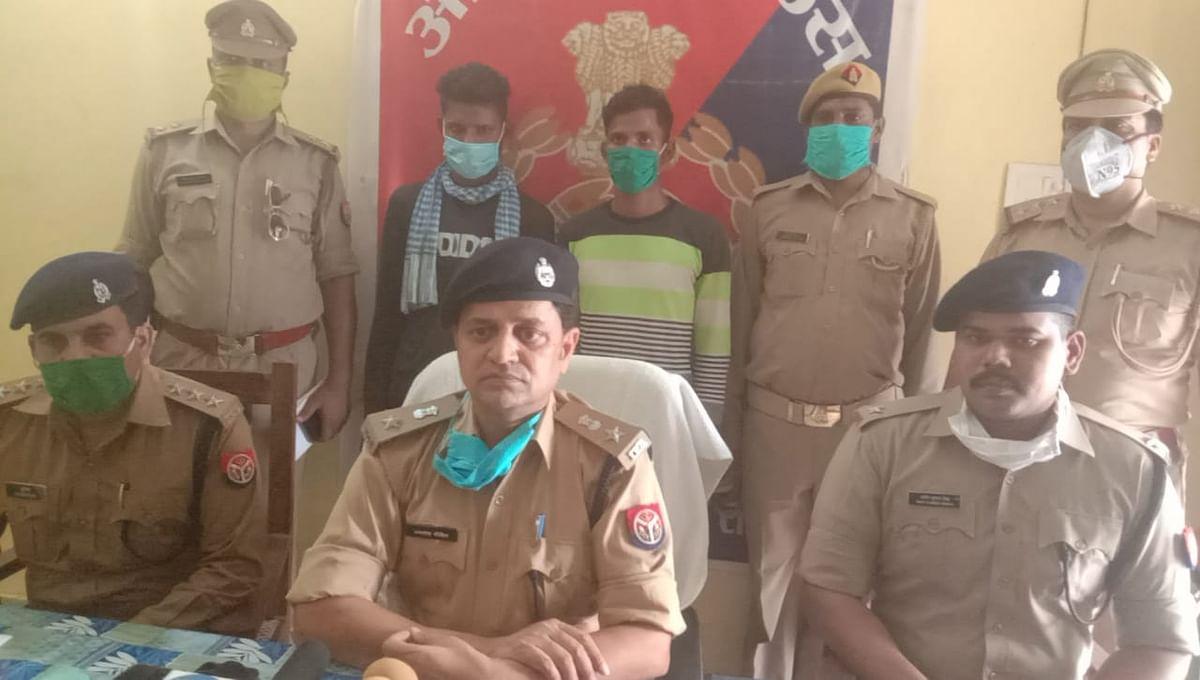 औरैया पुलिस ने लुटेरों को किया गिरफ्तार