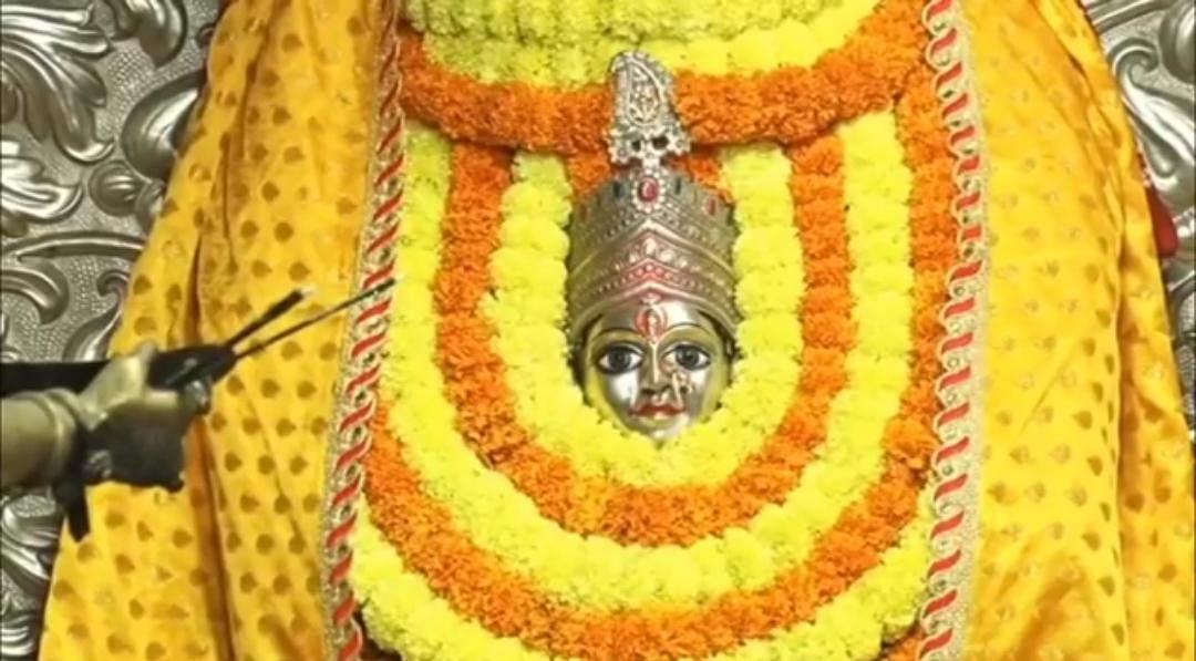 शारदीय नवरात्र: महाअष्टमी पर श्रद्धालुओं ने महागौरी अन्नपूर्णा के दरबार में लगाई हाजिरी