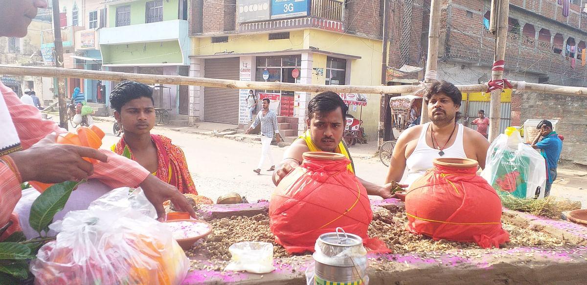 आरा सहित शाहाबाद में कलश स्थापना के साथ शुरू  हुई शारदीय नवरात्रि