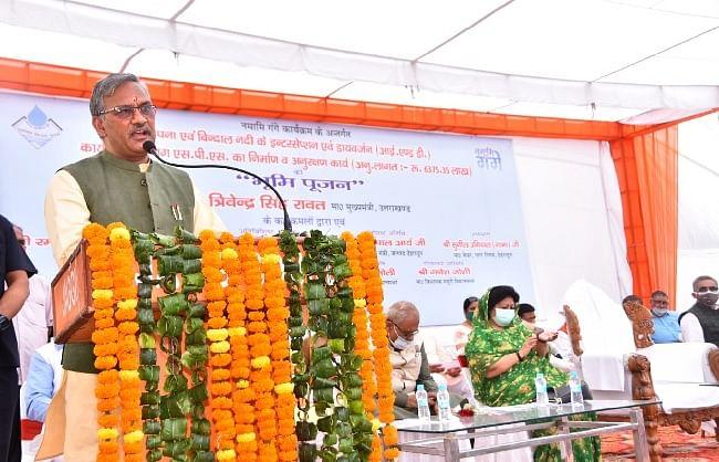उत्तराखंडः नमामि गंगे के 63.67 करोड़ रुपये के कार्यों का सीएम ने किया शुभारम्भ