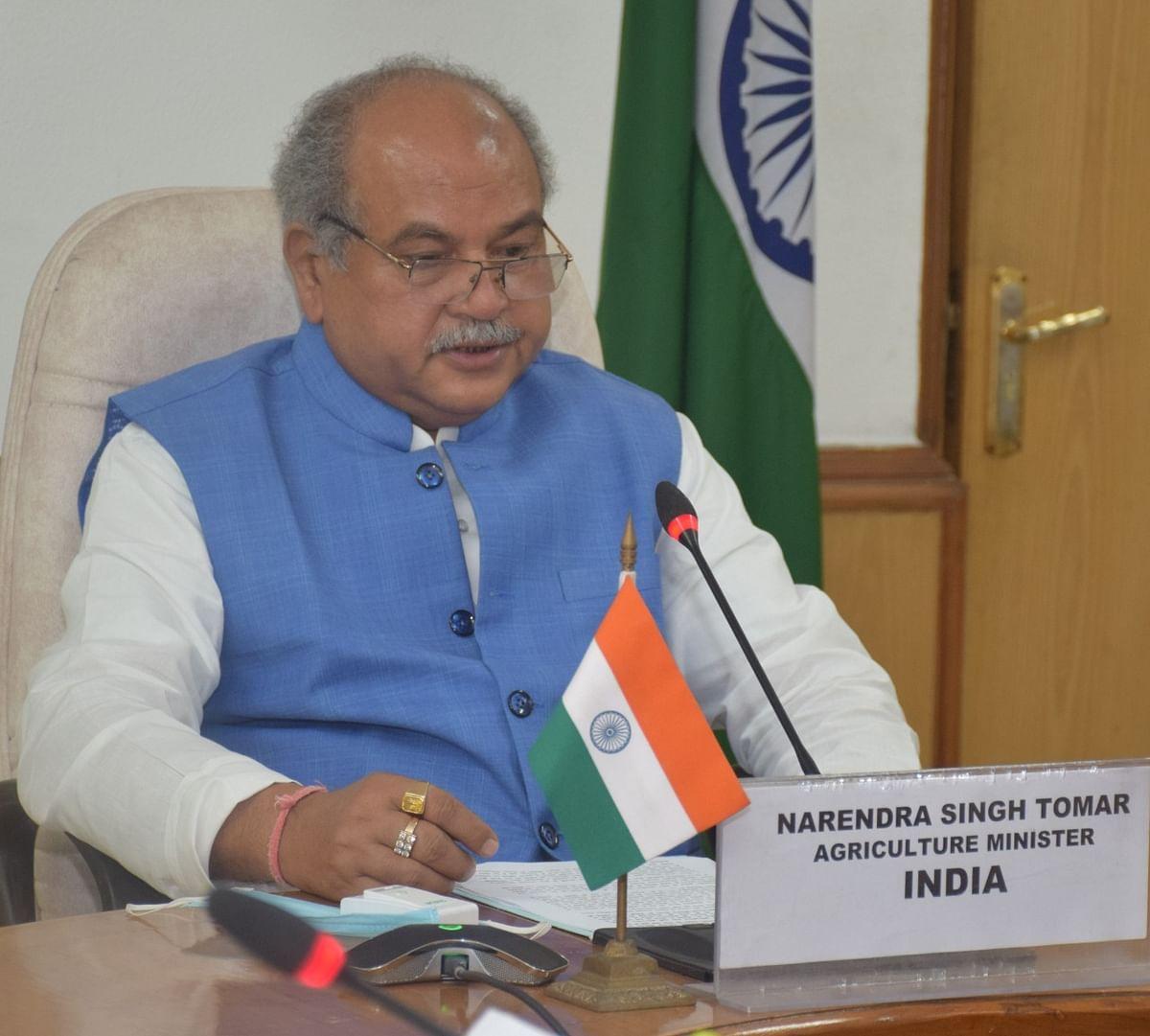 भारत सरकार कृषि क्षेत्र को निवेश के अवसर में बदलने के लिए प्रतिबद्ध:   तोमर