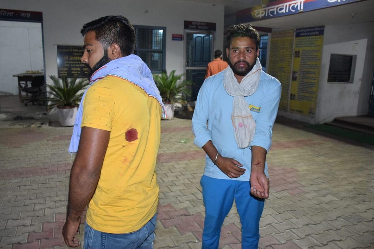 तीन युवकों ने गैस गोदाम में आग लगाने की धमकी दी, दो युवकों पर झोंका फायर