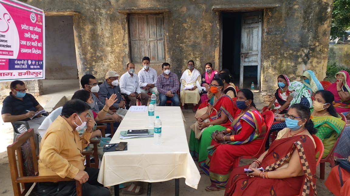 महिला थाने में मिशन शक्ति अभियान की गोष्ठी में उमड़ी महिलायें