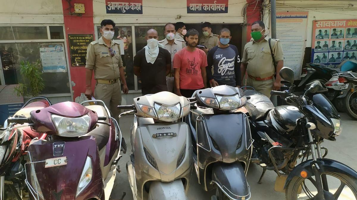 दिल्ली-एनसीआर से वाहन चुराकर मेरठ में बेचने वाले तीन शातिर चोर गिरफ्तार