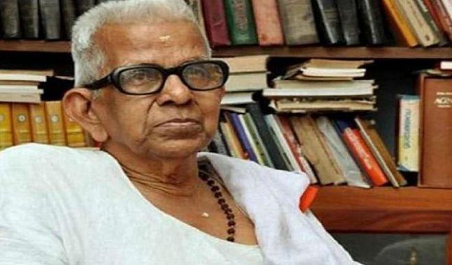 प्रसिद्ध मलयालम कवि अक्कितम अच्युतन नंबूतिरी का 94 वर्ष की उम्र में निधन