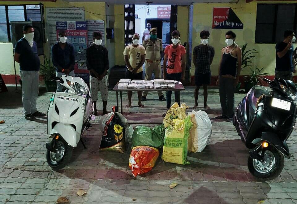 लखनऊ में गांजा बेचने वाले गिरोह को पुलिस ने दबोचा, 07 तस्कर गिरफ्तार