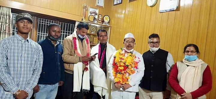 इंदिरा तिरंगा यात्रा का जोशीमठ में स्वागतॉ