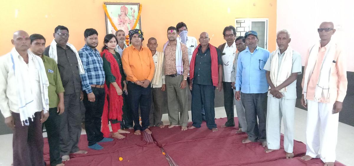 सिन्हा समाज ने सिन्हा छात्रावास भवन में मनाई सहस्त्रबाहु जयंती