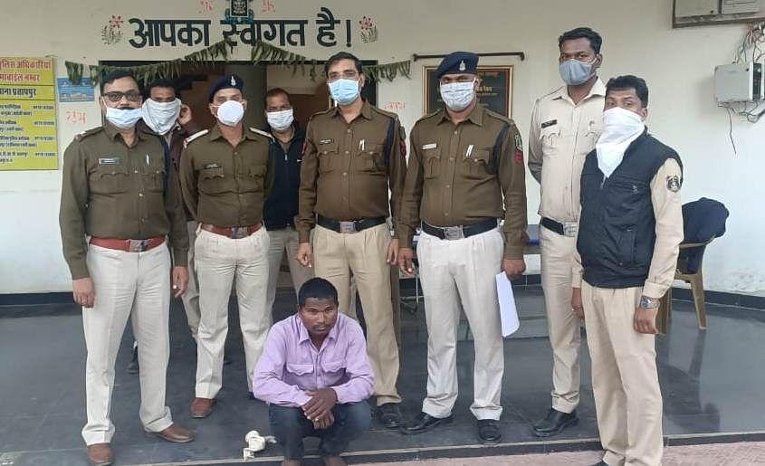 सूरजपुर पुलिस ने हत्या के मामले में 24 घंटों के अंदर ही आरोपित को किया गिरफ्तार