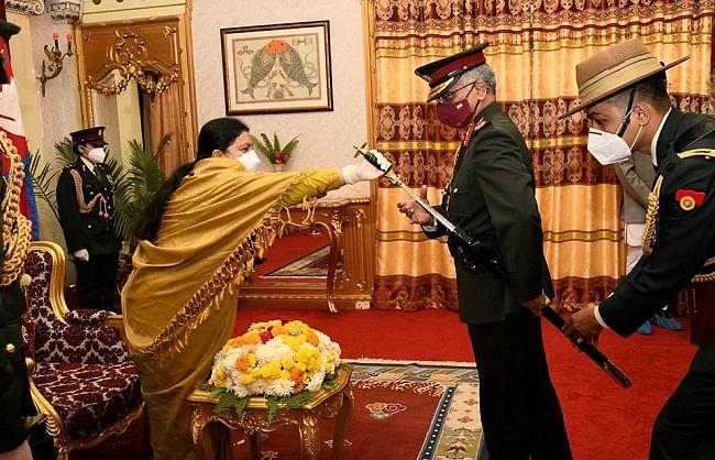नरवणे 'जनरल ऑफ द नेपाल आर्मी' के मानद पद से सम्मानित
