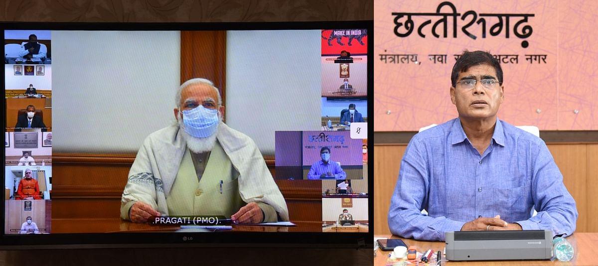 प्रधानमंत्री नरेन्द्र मोदी ने की छत्तीसगढ़ राज्य द्वारा किए गए कार्यों की प्रशंसा