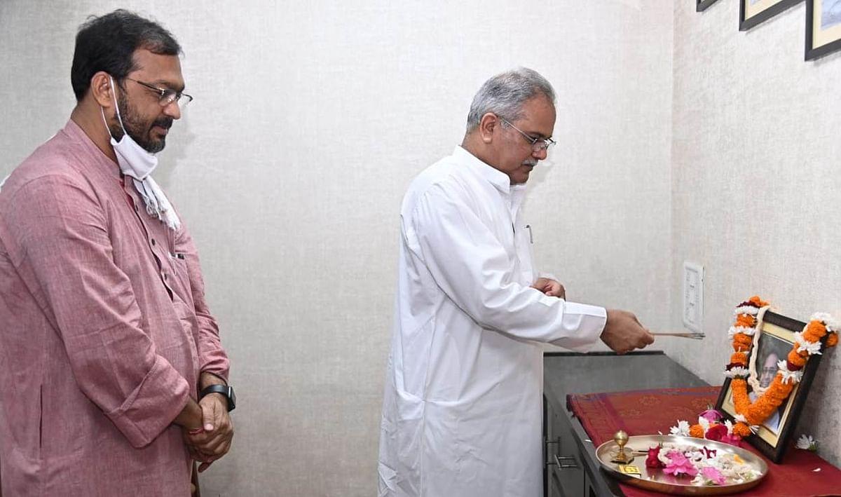 मुख्यमंत्री ने शहीद नंदकुमार पटेल को उनकी जयंती पर नमन किया
