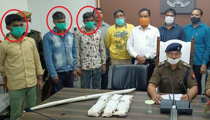 सर्राफा व्यापारी से लूट करने वाले तीनअपराधी गिरफ्तार