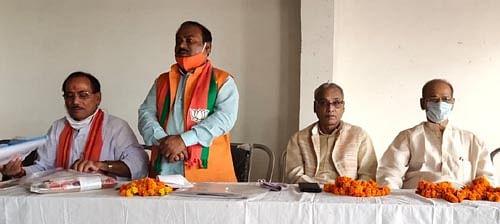 भाजपा मंडलों के कार्यशाला की समीक्षा व स्नातक चुनाव पर बनी रणनीति