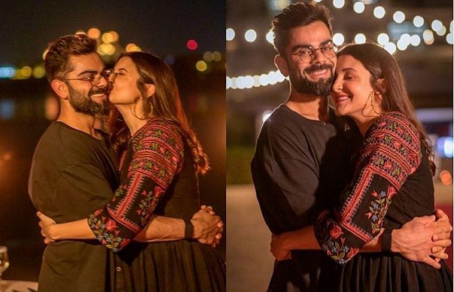 अभिनेत्री अनुष्का शर्मा ने पति विराट कोहली संग शेयर की रोमांटिक तस्वीरें