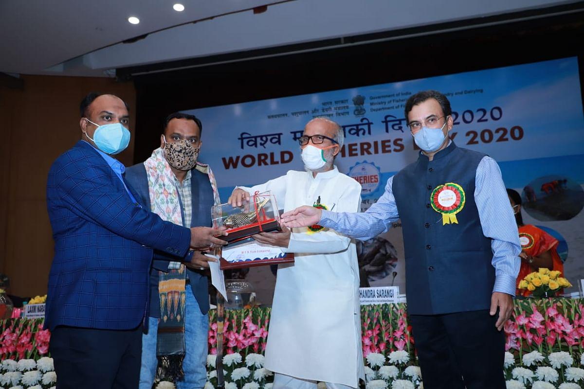 सिहावा के एमआईके फिश कंपनी को मिला राष्ट्रीय पुरस्कार