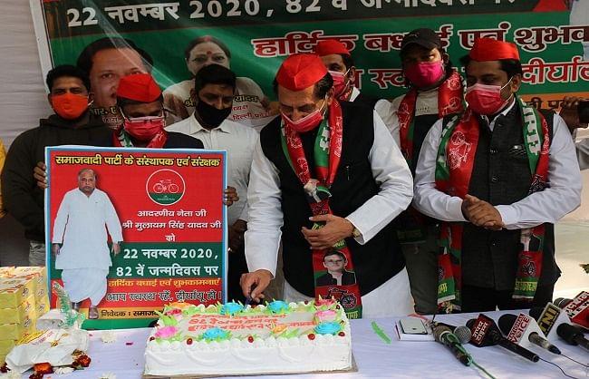 सादगी के साथ मनाया गया मुलायम सिंह यादव का 82वां जन्मदिन