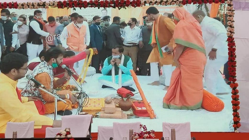 आरओबी का उपमुख्यमंत्री केशव मौर्य ने किया भूमिपूजन