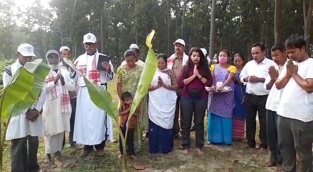 जंगली हाथी के उपद्रव से बचने के लिए की गई सर्वधर्म प्रार्थना