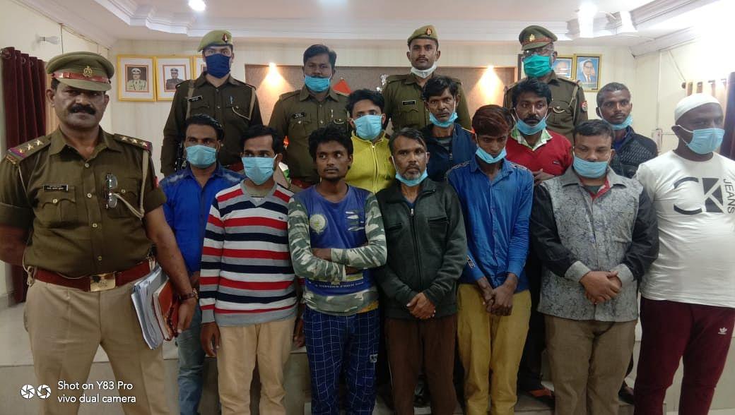 कानपुर : फर्जी जमानतगीर गिरोह का भंडाफोड़, पुलिस ने 11 आरोपियों को किया गिरफ्तार