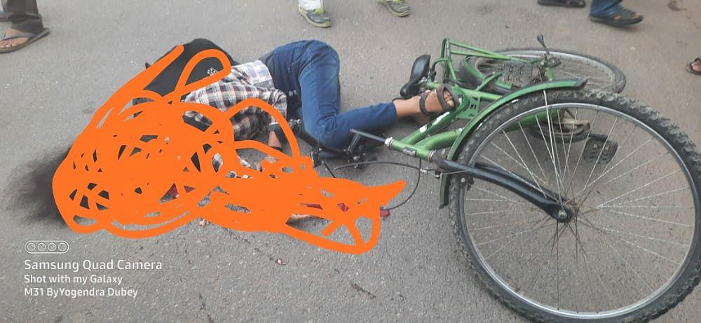 कोचिंग जा रही साइकिल सवार छात्रा को ट्रक ने रौंदा ,मौत