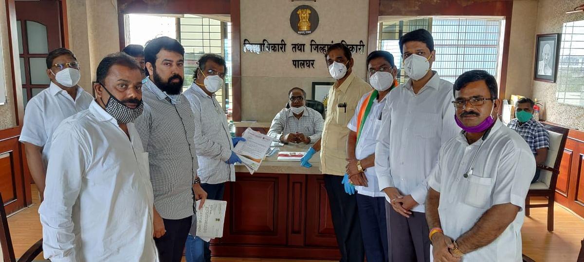 पालघर में भाजपा का उद्धव सरकार के खिलाफ प्रदर्शन