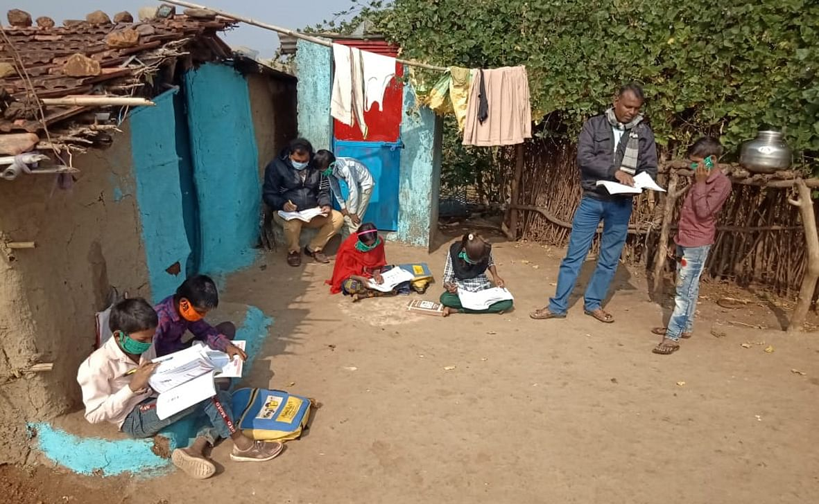 गांव घोड़ापल्ला में शिक्षक का सराहनीय प्रयास
