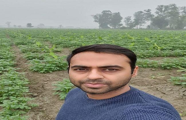 नौकरी छोड़ युवा ने शुरु की खेती, केले के साथ सहफसली के रुप में लगाया आलू