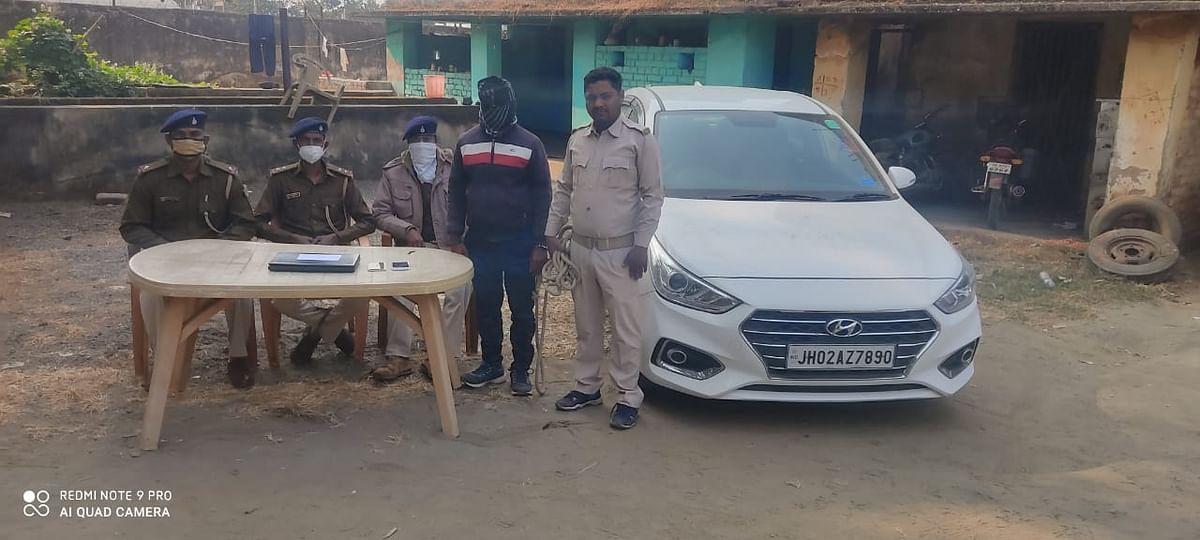 दो मोबाइल व एक लेपटॉप के साथ एक साइबर अपराधी गिरफ्तार