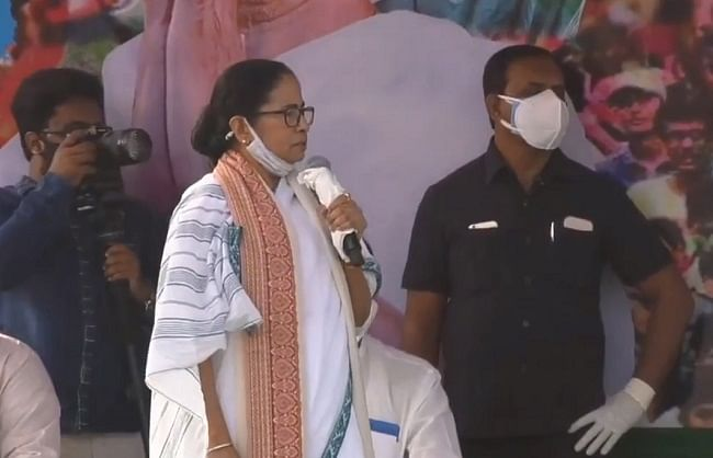 P. Bengal: Mamta did road show in Bolpur, told external party to BJP