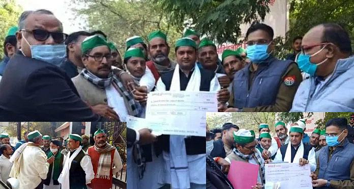 Mathura: Farmers returned checks of Prime Minister Kisan Samman Nidhi
